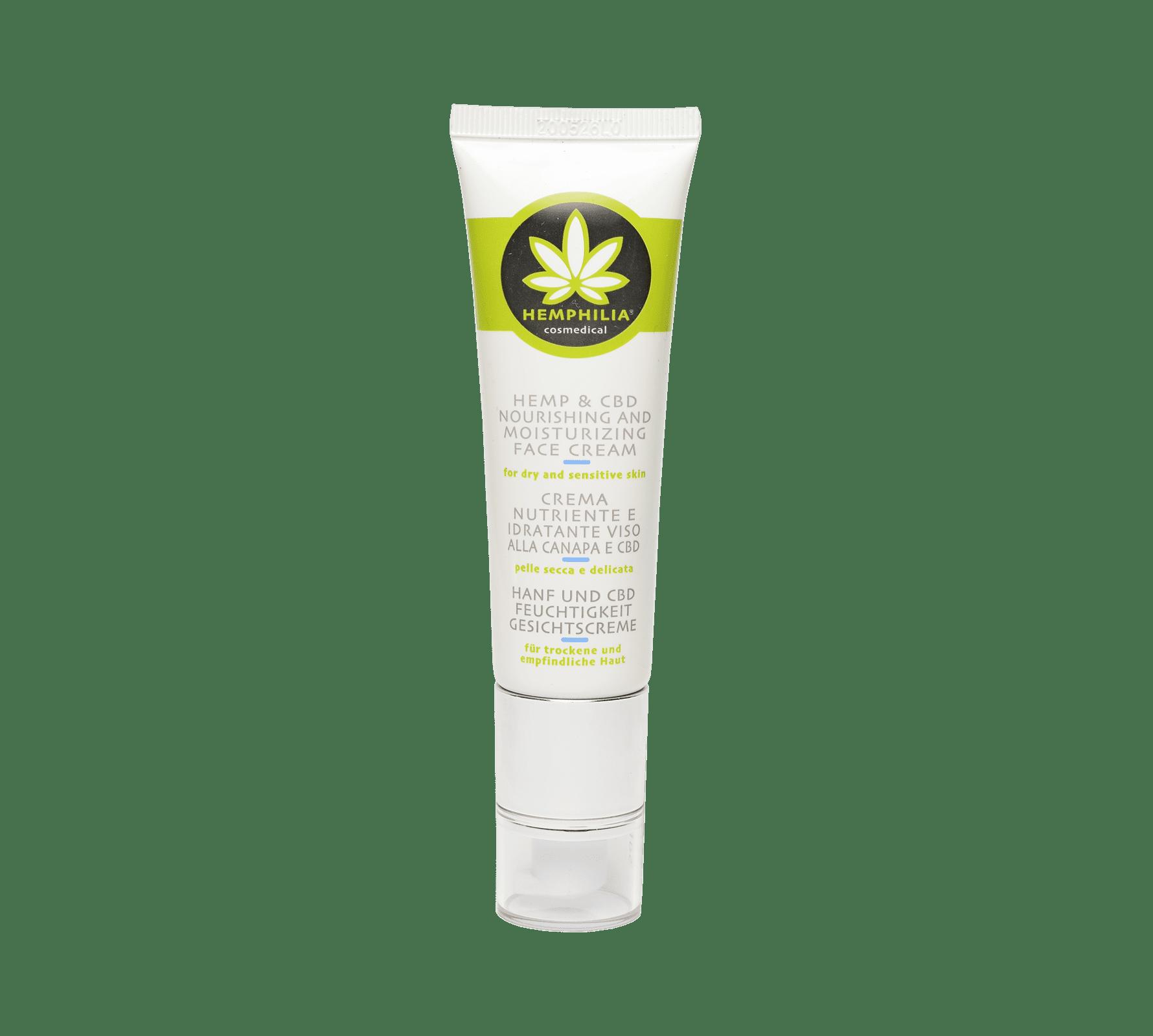 Hemp & CBD Nourishing and Moistuirizing Face Cream